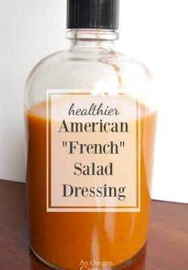 American French salad dressing in bottle