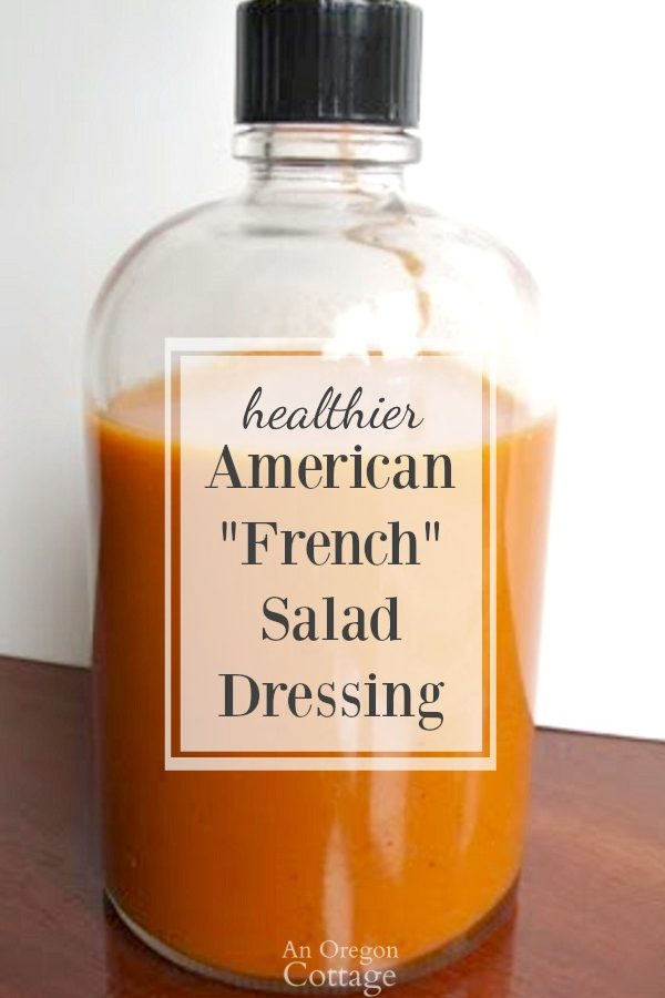 A tomato-based French salad dressing made healthier with a lot less sugar than bottled or other recipes.