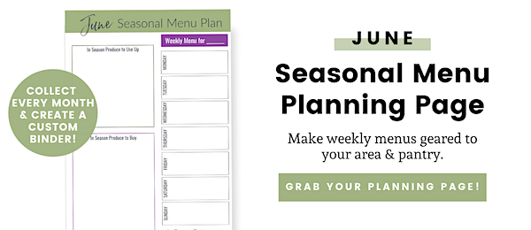 June menu plan page opt-in button