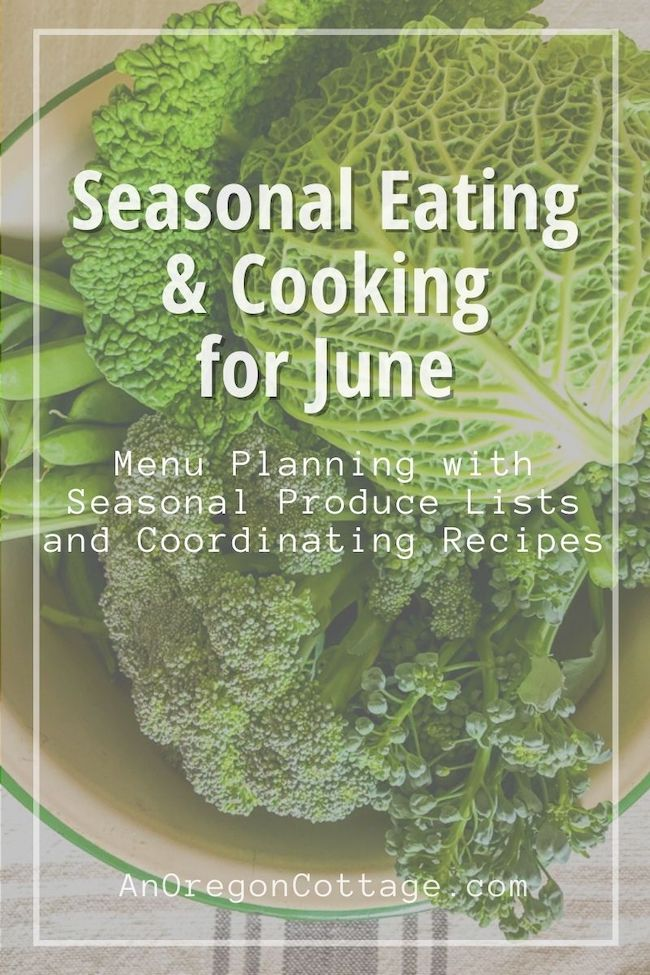 Seasonal Cooking-June