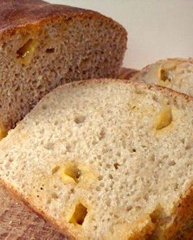 Cheesy Sourdough Batter Bread