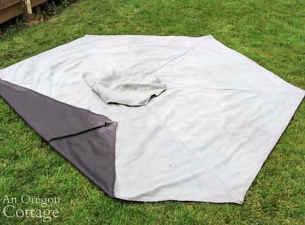 faded outdoor umbrella