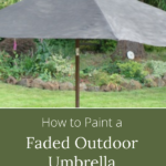how to paint faded outdoor umbrella that lasts
