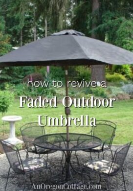 how to revive faded outdoor umbrella