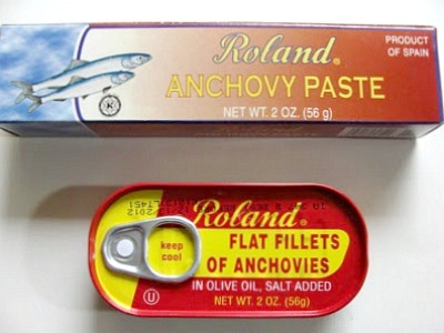 Two types of Anchovies for Caesar Dressing
