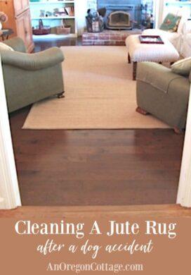 Cleaning jute rug