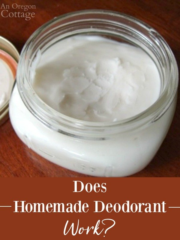 Homemade Deodorant in jar