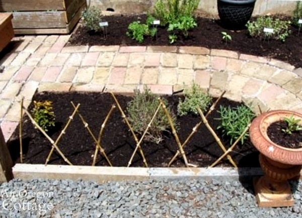 Herb Garden-bamboo fence