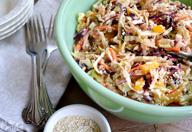 Spicy Asian Slaw makes a refreshing, easy salad