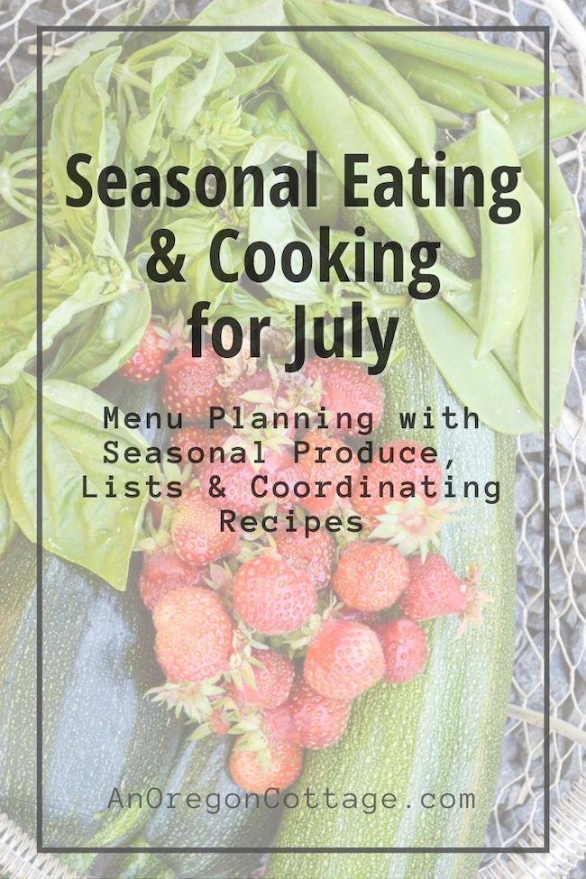 Seasonal Cooking-July