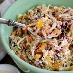 Spicy Asian Slaw is a cabbage salad that's easy to make ahead and take to potlucks.