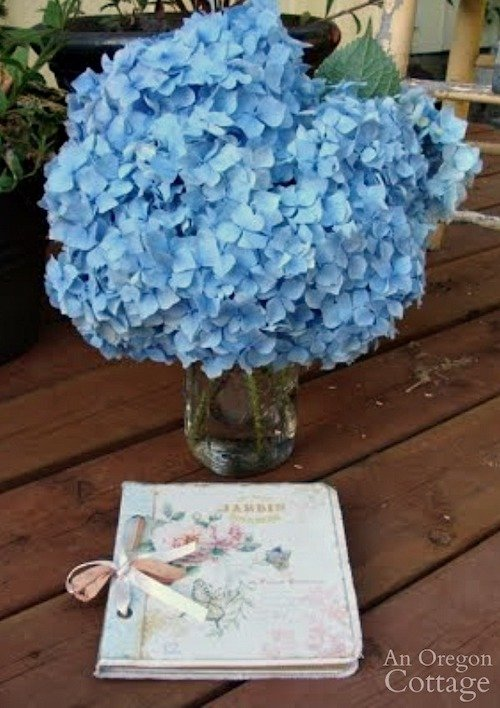 Thankful journal-hydrangea