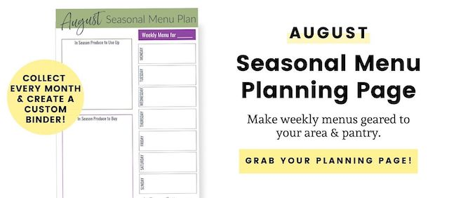 August seasonal menu plan opt-in