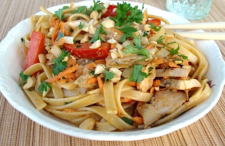 Spicy Grilled Chicken Salad With Noodles Recipes — Dishmaps