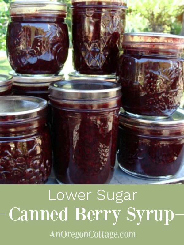 Low sugar canned berry syrup