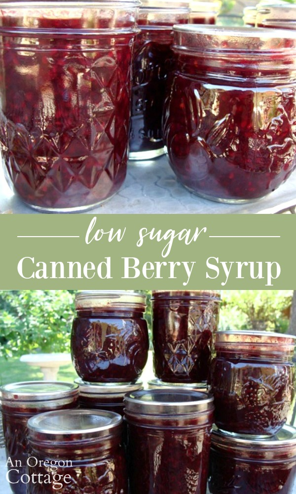 Lower sugar canned berry syrup