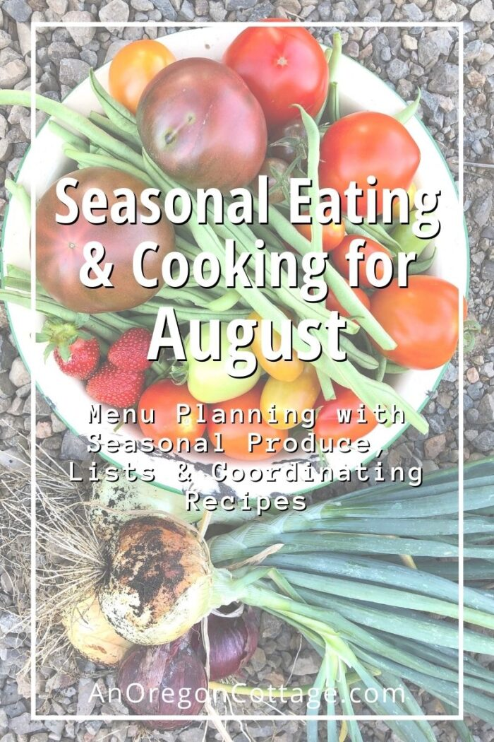 Seasonal Cooking-August