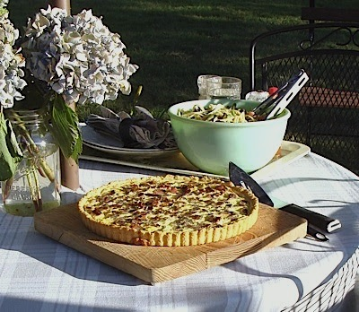 Summer Corn tart meal