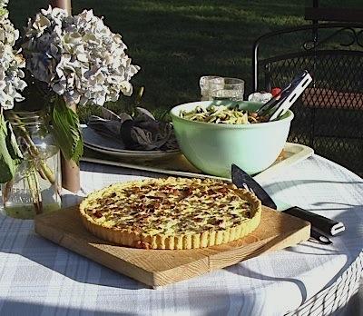 Summer Corn tart meal