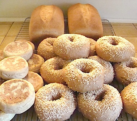 Baking day bread