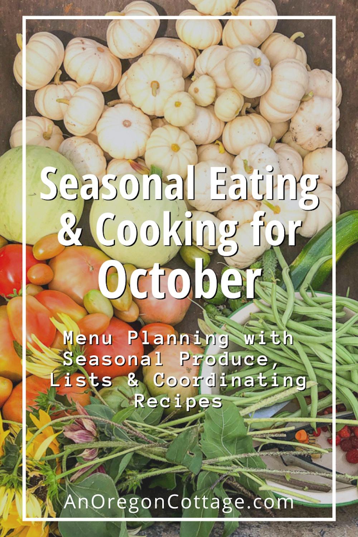 October Seasonal Cooking