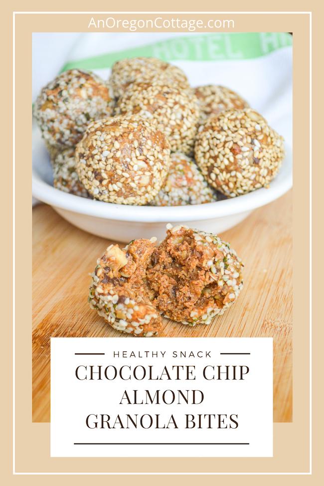 healthy almond granola bites