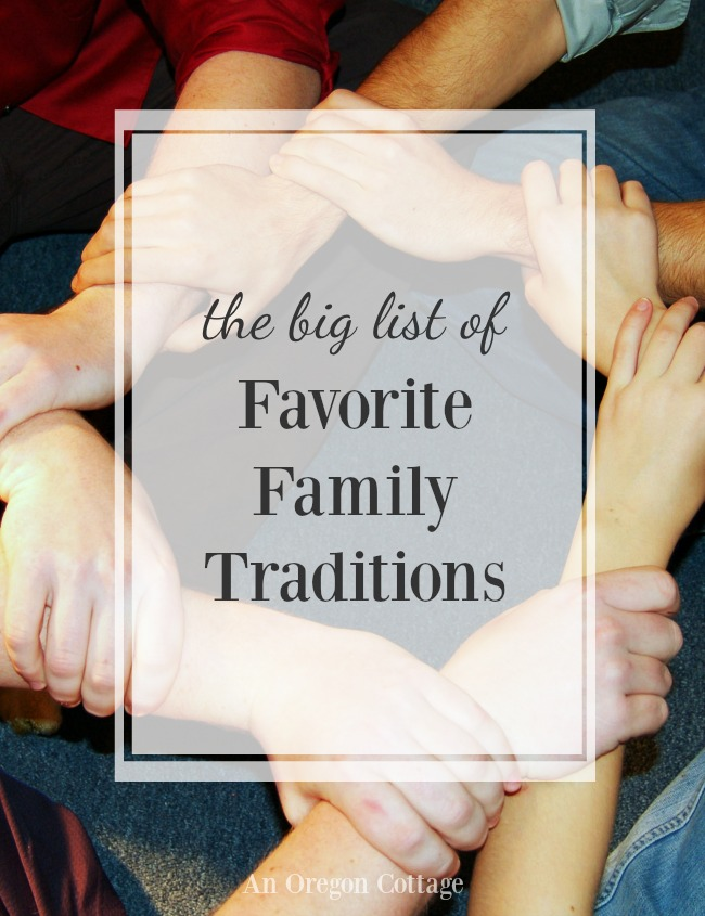 Family Traditions idea list -family holding hands