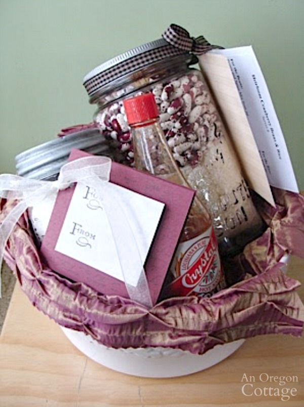 Red beans and rice gift basket with Focaccia