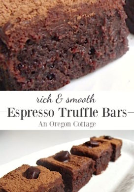 Fudgy Espresso Truffle Bars Recipe