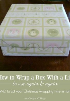 How To Wrap A Box With A Lid to Use Again and Again