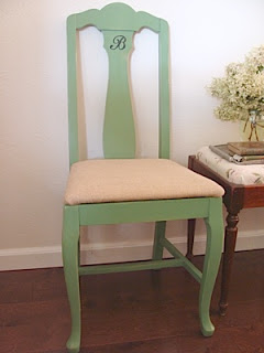 green chair after