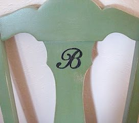 monogramed-green-chair