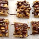 Chocolate Drizzled Nut Squares Cookie Bars