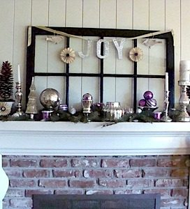 Christmas Mantel 2011 {Before and After}
