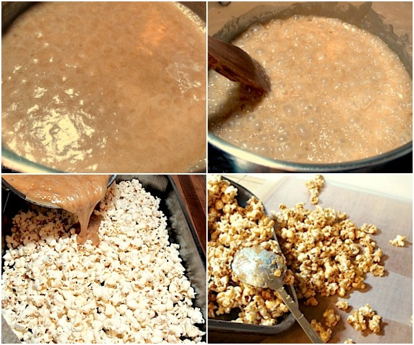 Easy homemade caramel corn-regular or moose munch-making caramel