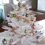 Feather Tree with book page ornaments
