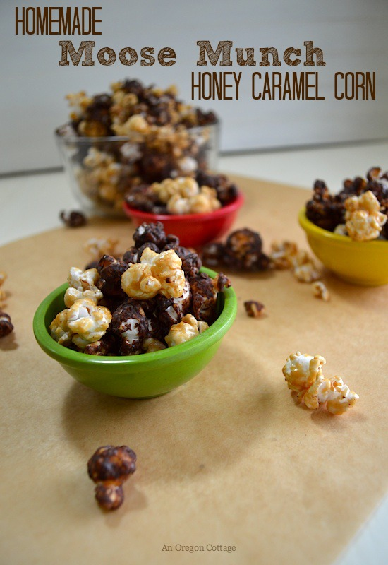 Homemade Moose Munch Honey Caramel Corn - An Oregon Cottage