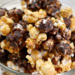 Homemade Moose Munch Honey Caramel Corn in bowl