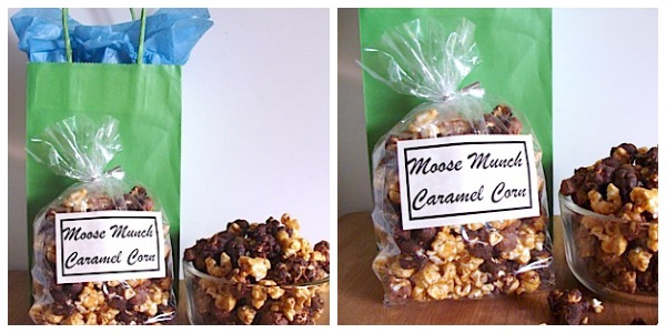 Moose Munch Honey Caramel Corn Gift Bag - An Oregon Cottage