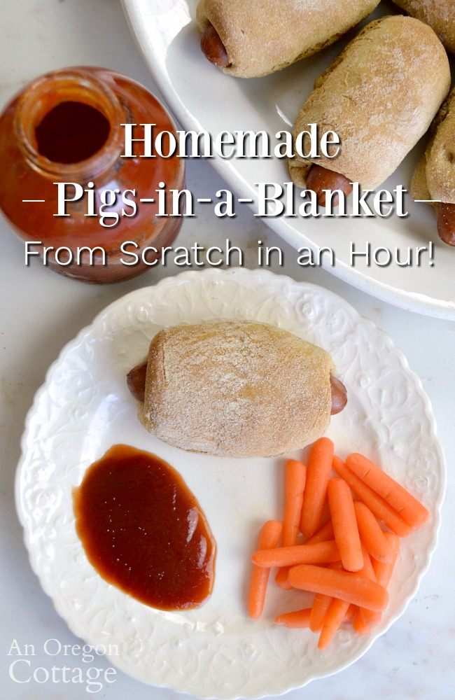 Homemade Pigs in a Blanket from scratch dinner