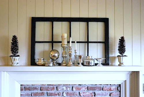 Mercury Glass Winer Mantel
