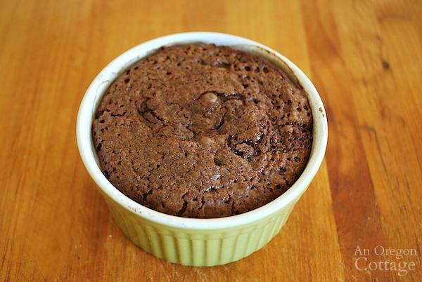 Easy Lava Cakes in ramekin