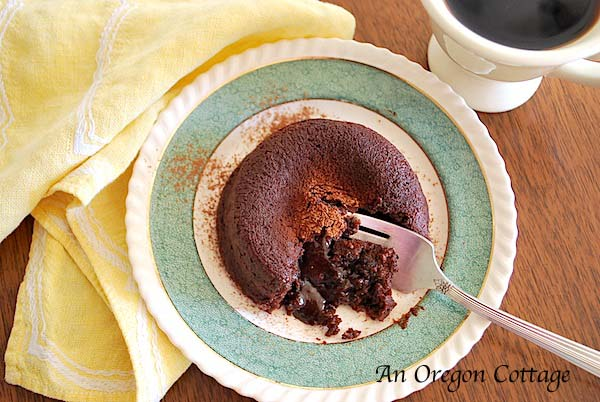 Quick and Easy Lava Cakes - An Oregon Cottage