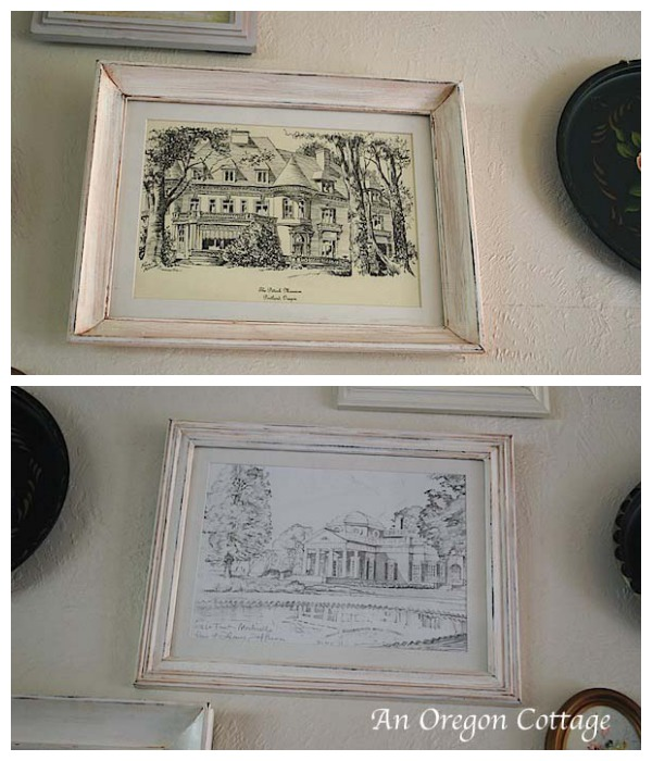 Pen and Ink Drawings on Gallery Wall