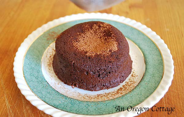 Easy Lava Cake with cocoa - An Oregon Cottage
