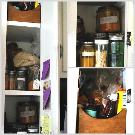 spice cabinet before