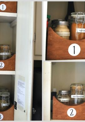 Spice Cabinet Cleanup: Before And After