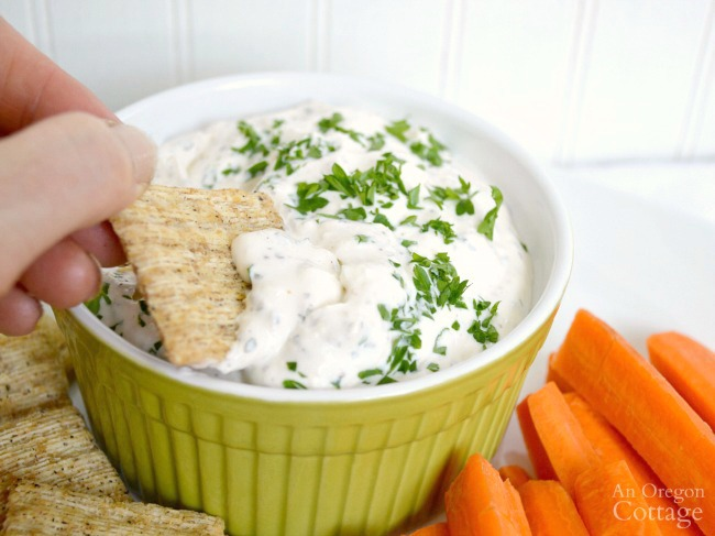 Creamy feta dip also makes a great dressing