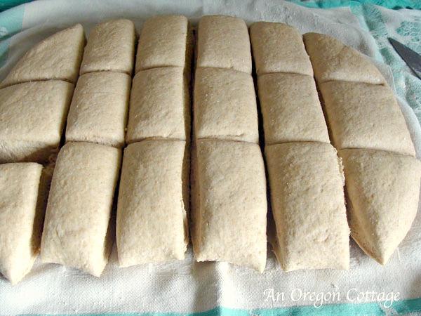 Cutting sourdough bagels