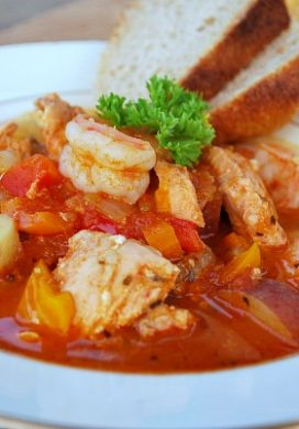 Savory Seafood-Tomato Stew - An Oregon Cottage